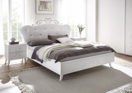Sertis Bett 180x200 Weiß