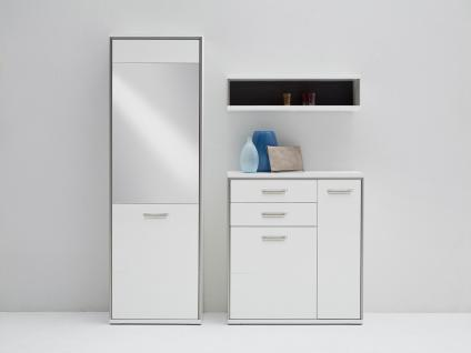 garderobe grau hochglanz g nstig kaufen bei yatego. Black Bedroom Furniture Sets. Home Design Ideas