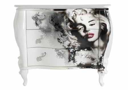 Kommode Exclusia mit 3 Schubladen und Marilyn-Motiv