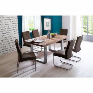 Tischgruppe Castello Eiche bassano / Stuhl Edward I braun verschiedene Varianten