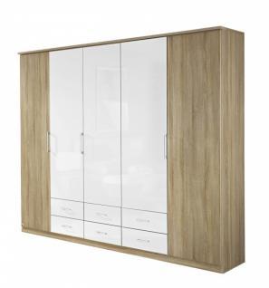 Falttürenschrank ARONA Eiche Sonoma / weiß in drei Größen