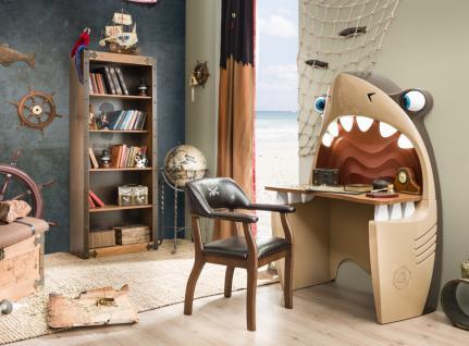 Cilek Schreibtisch Hai Black Pirate 2-teilig