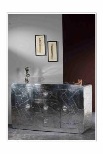 Sideboard Homin mit 2 Türen in der Farbe Silber