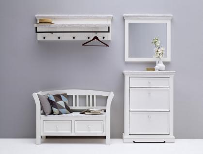 Garderoben Set Hely 4-teilig in Kiefer weiß massiv