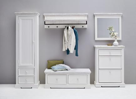 Garderoben Set Hely 5-teilig in Kiefer weiß massiv