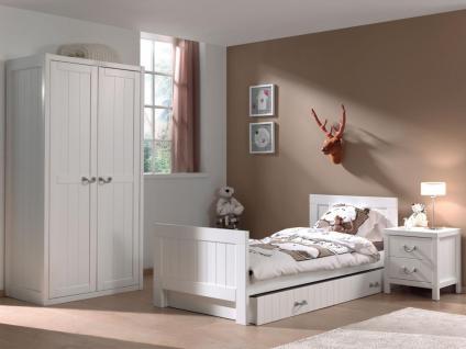Kinderbett Set Iny 4-teilig in Weiß MDF