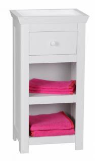 Badezimmer Wohn- Regal 77 x 40 x 30 cm mit Schublade und Ablage weiß