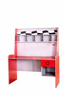 Schreibtisch Rally in Rot-Weiß