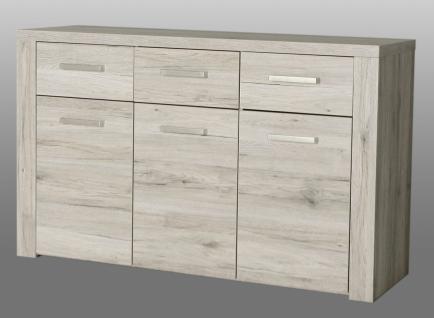 kommode julietta 3 t rig in sandeiche kaufen bei m bel lux. Black Bedroom Furniture Sets. Home Design Ideas
