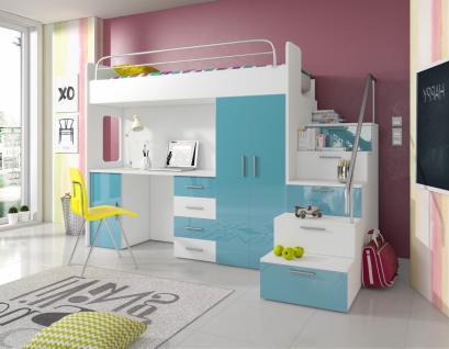 hochbett schreibtisch schrank g nstig online kaufen yatego. Black Bedroom Furniture Sets. Home Design Ideas