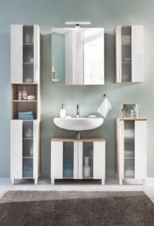 Badezimmer Set Hera 5-teilig in Eiche Sägerau-Weiß