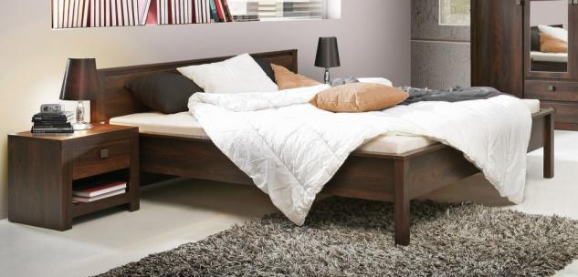 Schlafzimmer Bett Roberta 180x200 cm in Eiche Durance