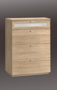 aurora grosse kommode mit 4 schubladen sonoma eiche kaufen bei m bel lux. Black Bedroom Furniture Sets. Home Design Ideas