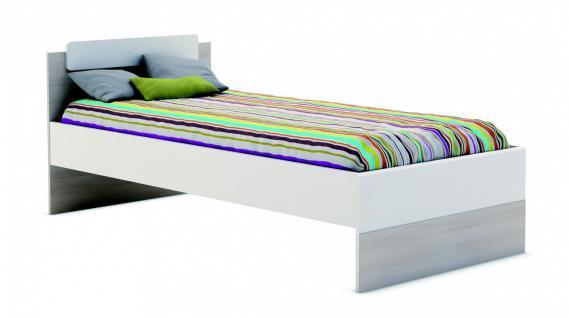 Kinderbett Ebba 90x190cm in Akazie-Perle Weiß