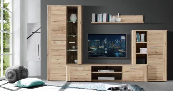 Fernseh wohnwand g nstig sicher kaufen bei yatego for Wohnwand 9 teilig