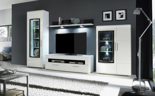 Tv regal schwarz g nstig sicher kaufen bei yatego for Wohnwand jerome