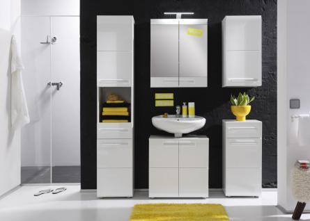 Badezimmer Set Lissi 5-teilig in Weiß Hochglanz