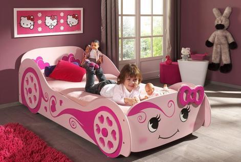 Autobett Love Car in rosa