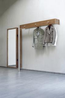 Garderoben Set Rolling in Echtholzfurnier-Edelstahl
