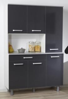 k chenbuffet basalte wei anthrazit grau melamin kaufen bei m bel lux. Black Bedroom Furniture Sets. Home Design Ideas