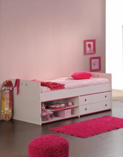 Kinder Stauraum Bett Smoozy in Pink