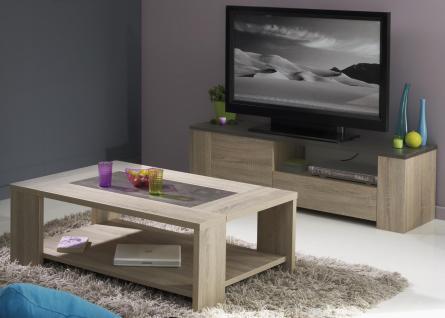TV-Lowboard Set inkl. Couchtisch Lossi Eiche Natur