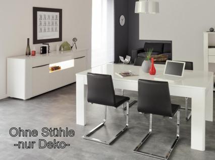 Tischgruppen-Set Ceram 2-teilig weiß Hochglanz
