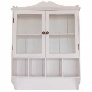 Wandablage mit 2 Glastüren weiß 61 x 86 x 21 cm