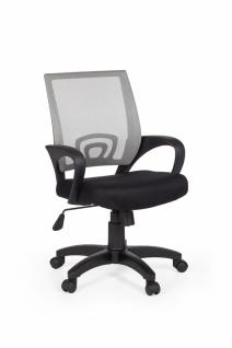Rivoli Bürostuhl Stoff / Netz Grau