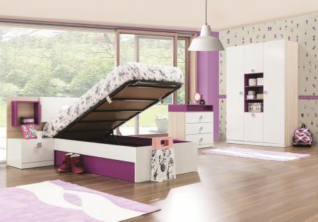 kleiderschrank wei lila g nstig kaufen bei yatego. Black Bedroom Furniture Sets. Home Design Ideas