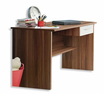 schreibtisch walnuss weiss online kaufen bei yatego. Black Bedroom Furniture Sets. Home Design Ideas