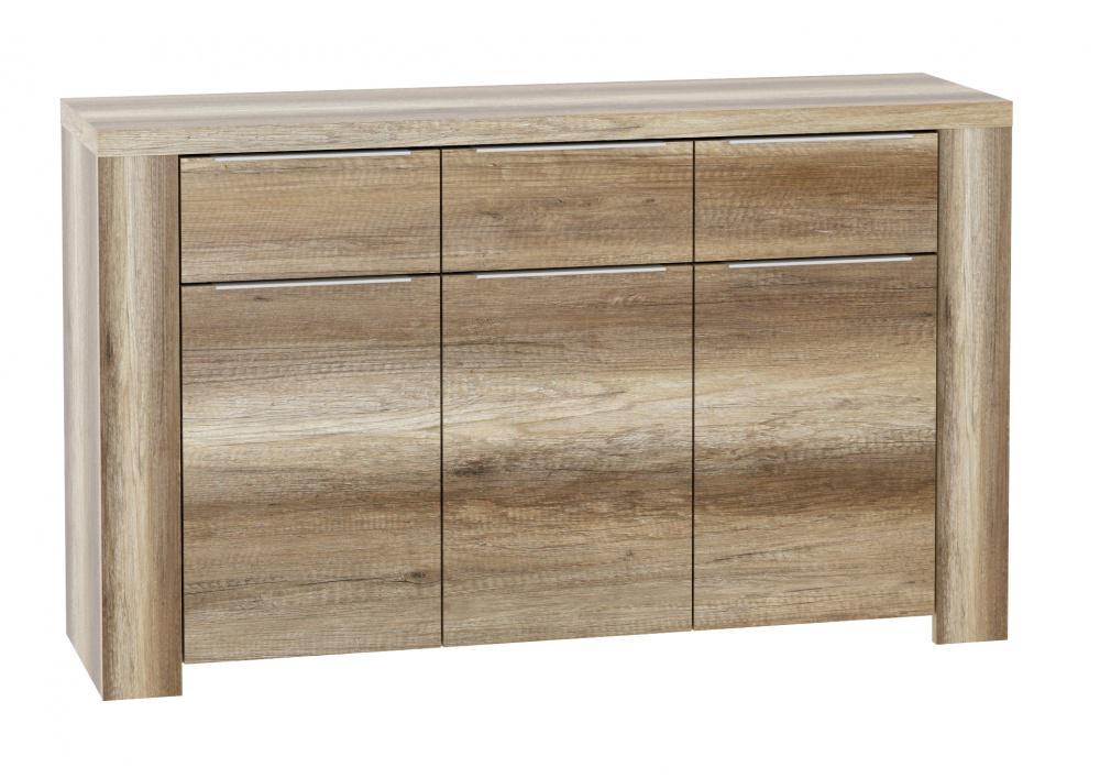kommode edoardo 3 trg in eiche antik kaufen bei m bel lux. Black Bedroom Furniture Sets. Home Design Ideas