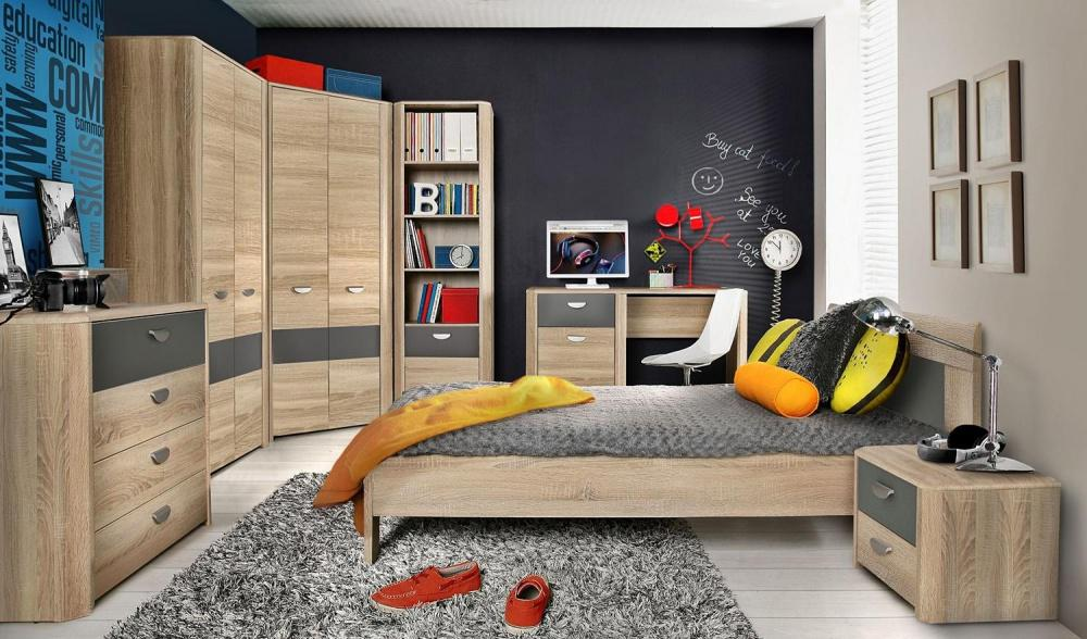 schreibtisch kevin in sonoma eiche kaufen bei m bel lux. Black Bedroom Furniture Sets. Home Design Ideas