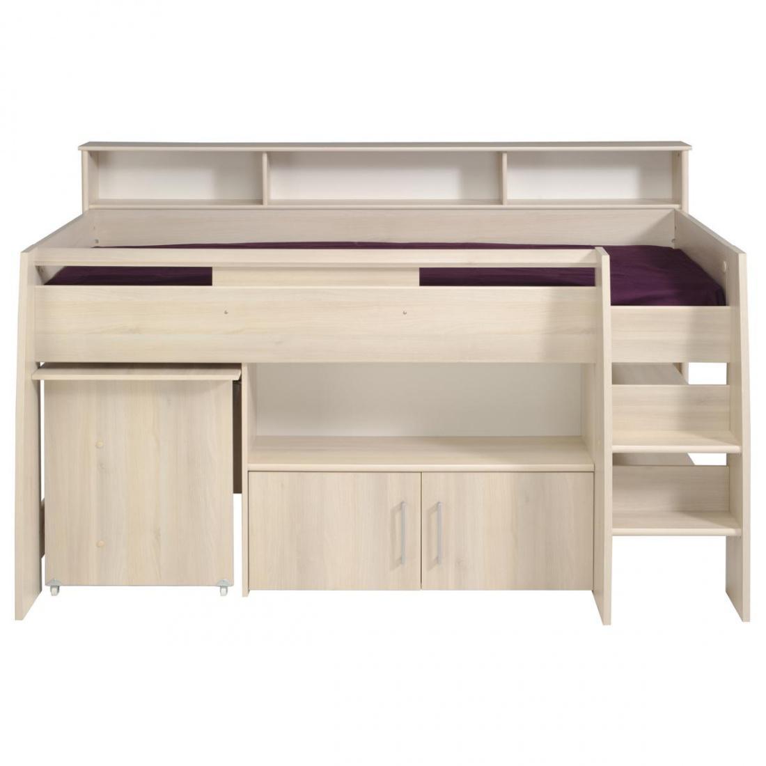 kinderhochbett tesso akazie inkl schreibtisch kaufen bei m bel lux. Black Bedroom Furniture Sets. Home Design Ideas