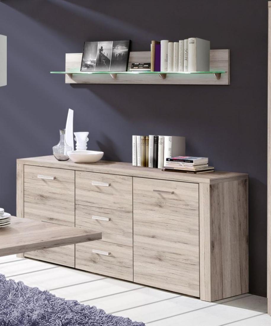 sideboard julietta 2 t rig in sandeiche kaufen bei m bel lux. Black Bedroom Furniture Sets. Home Design Ideas