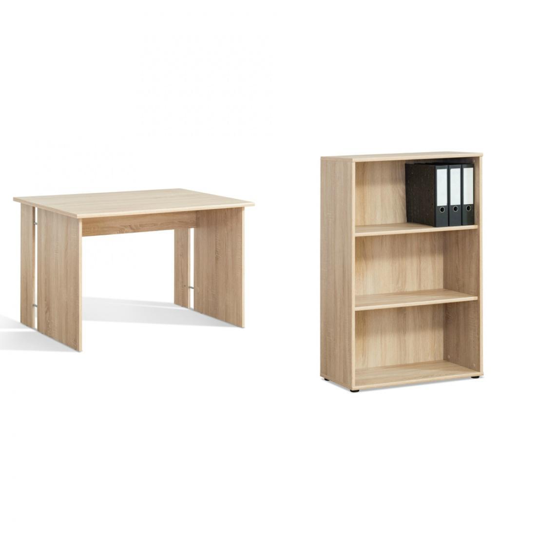 schreibtisch 1 mit kleinem regal eiche sonoma kaufen bei m bel lux. Black Bedroom Furniture Sets. Home Design Ideas