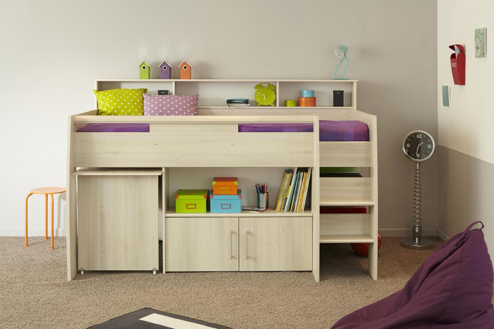 kinderhochbett tesso akazie inkl schreibtisch kaufen. Black Bedroom Furniture Sets. Home Design Ideas