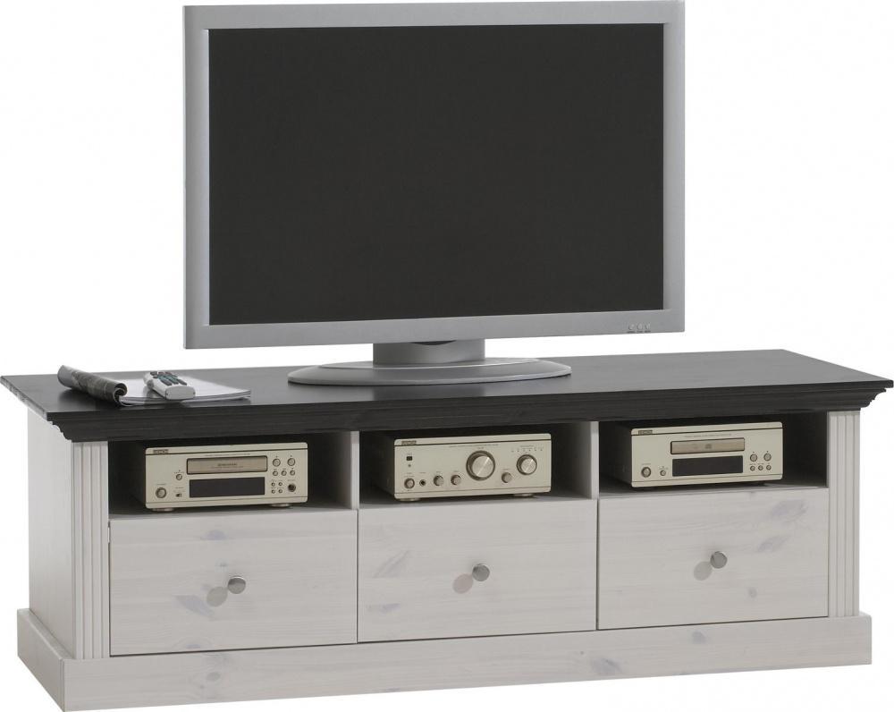 Wohnzimmer tv schrank monaco kiefer massiv weiss kaufen bei m bel lux - Pc schranke wohnzimmer ...