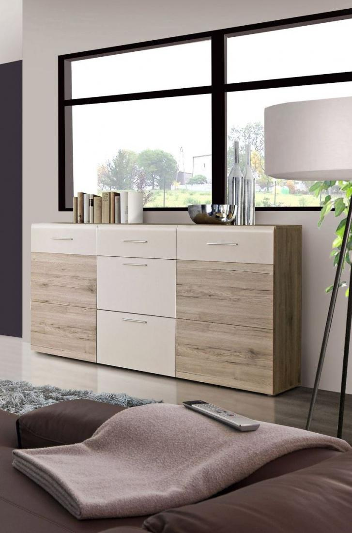 sideboard madison 2 t rig in sandeiche weiss kaufen bei m bel lux. Black Bedroom Furniture Sets. Home Design Ideas