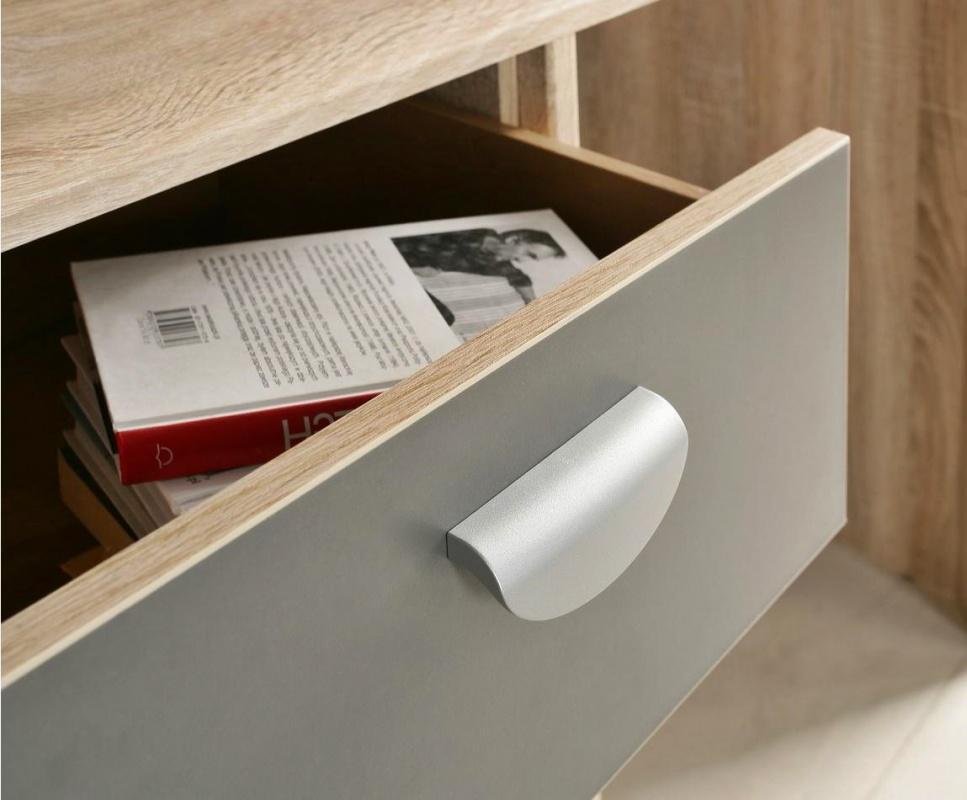Schreibtisch kevin in sonoma eiche kaufen bei m bel lux for Schreibtisch eiche grau