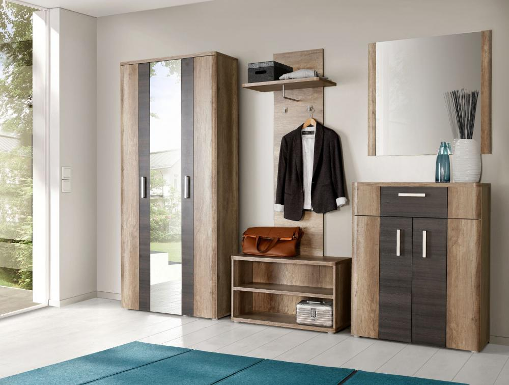 garderoben set libella 4 tlg in eiche antik touchwood kaufen bei m bel lux. Black Bedroom Furniture Sets. Home Design Ideas