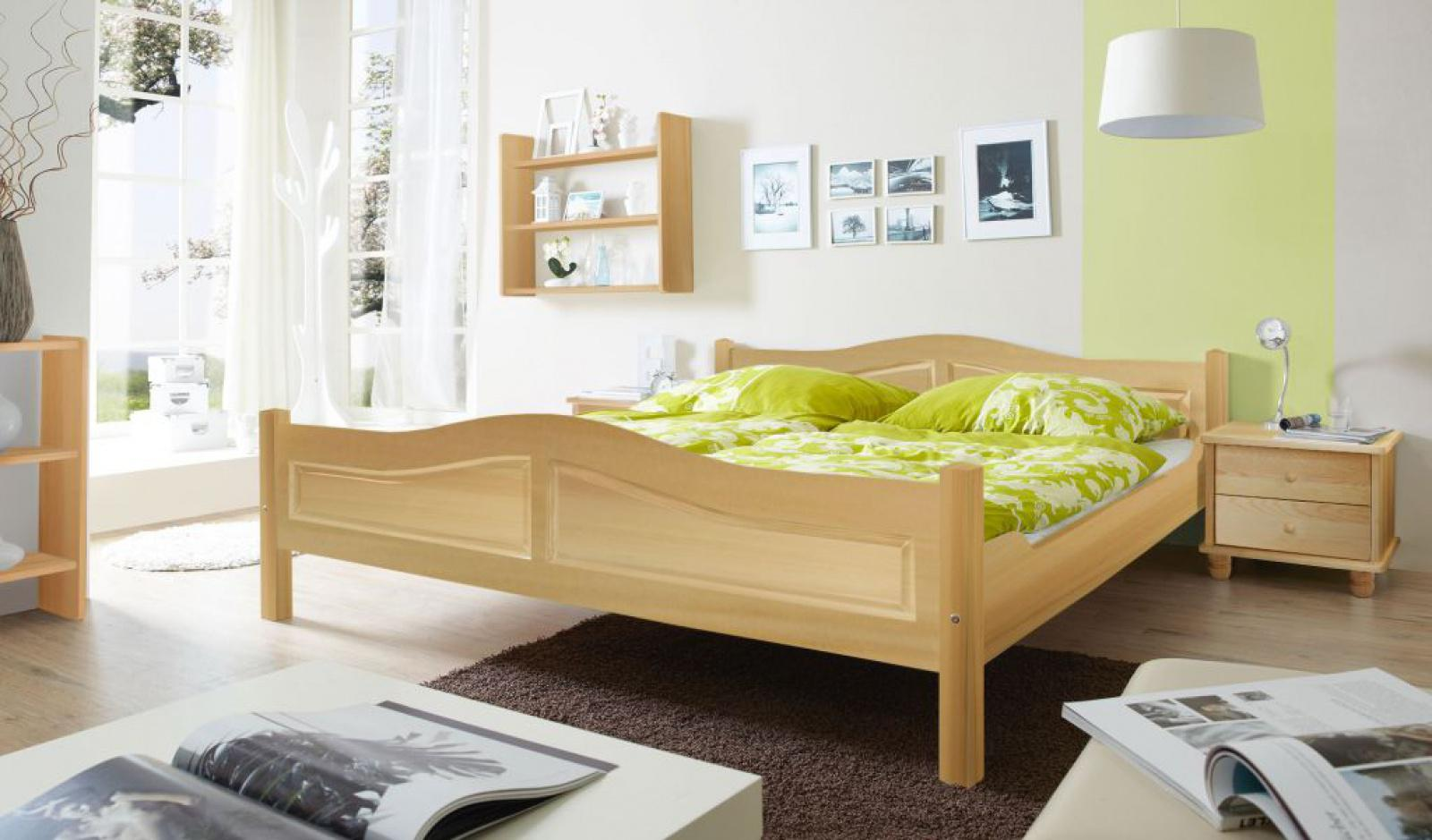 Doppelbett rita 140 x 200 natur kaufen bei m bel lux for Doppelbett 140