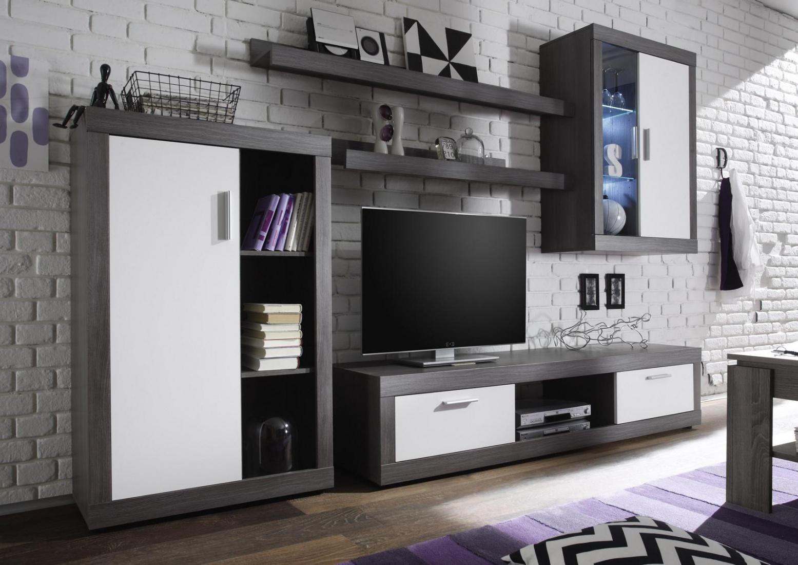 Wohnwand klea 5 teilig in zwei farben   kaufen bei möbel lux