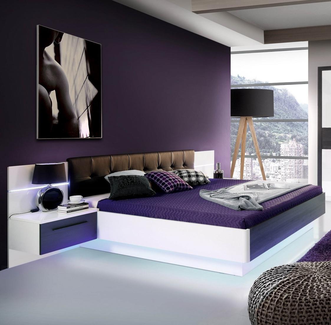 bett fennia 180x200cm in wei hochglanz kaufen bei m bel lux. Black Bedroom Furniture Sets. Home Design Ideas