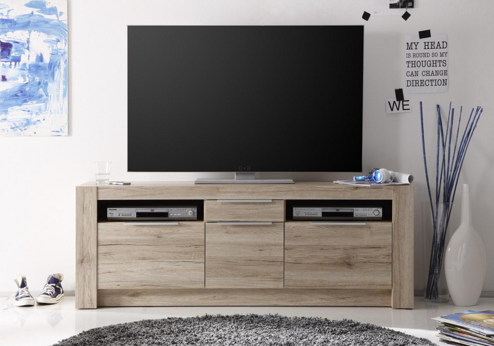tv unterschrank akira 3 t rig in eiche san remo kaufen bei m bel lux. Black Bedroom Furniture Sets. Home Design Ideas