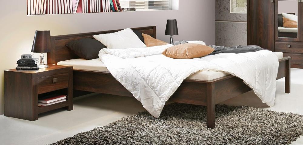 schlafzimmer bett roberta 180x200 cm in eiche durance kaufen bei m bel lux. Black Bedroom Furniture Sets. Home Design Ideas