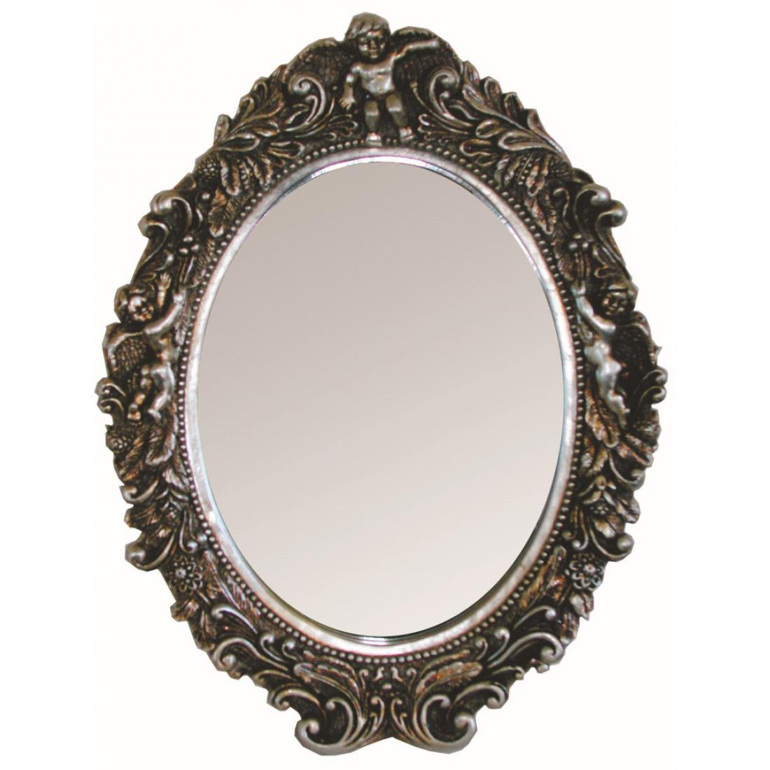 ovaler spiegel 15 verschiedene farben 43 x 50 x 7 cm kaufen bei m bel lux. Black Bedroom Furniture Sets. Home Design Ideas