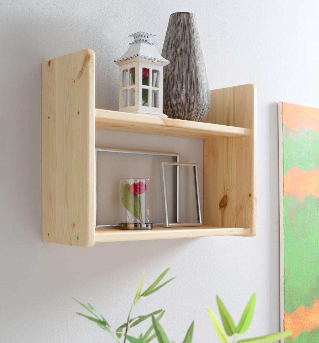 wandregal kiefer natur 2 b den schmal 60 x 45 x 20 cm kaufen bei m bel lux. Black Bedroom Furniture Sets. Home Design Ideas