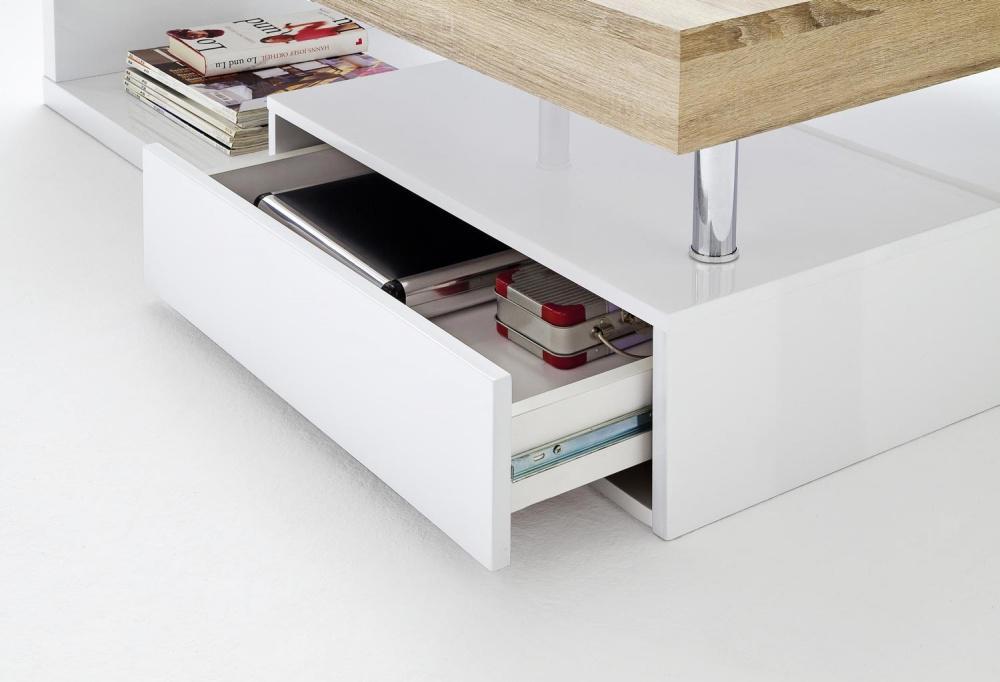 couchtisch hop hochglanz lack wei sonoma kaufen bei m bel lux. Black Bedroom Furniture Sets. Home Design Ideas