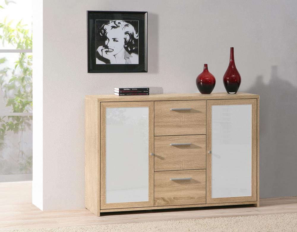 kommode mit t ren lorenzo in weiss lila kaufen bei m bel lux. Black Bedroom Furniture Sets. Home Design Ideas